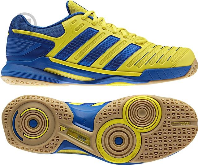 Adidas Adipower Stabil 10 Yellow Blue | Squash shoes, Adidas